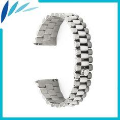 Stainless Steel Watch Band 18mm for Asus Zenwatch 2 Women WI502Q Quick Release Strap Wrist Men Women Loop Belt Bracelet Silver #Affiliate