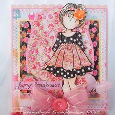 Claralesfleurs Scrapbooking: DT Art du Scrapbooking - une carte chevalet avec la collection Anna Maria et Prima Doll..
