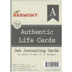 "Look what I found on #blitsy! Harmony Pocket/Life Project Cards 3""X4"" 34/Pkg- #blitsybuys"