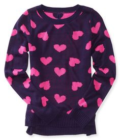 Kids' Reversible Hearts Sweater - PS From Aeropostale