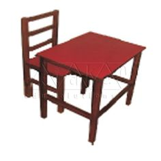 A Beautifully polished teak #wooden #chair & table as a pair – can be used for one child.
