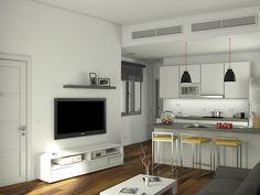 Imagen del interior de una de las viviendas de León XIII, 70 Flat Screen, Electronics, Interiors, Blood Plasma, Flatscreen, Dish Display, Consumer Electronics