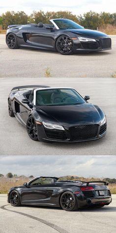 Audi V10, Audi R8 Black, Supercars For Sale, Convertible, V10 Engine, Best Luxury Cars, Supersport, Black Exterior, Auto Service