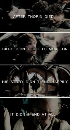 And if our main character never got to move on, then how can we be expected to? #thehobbit