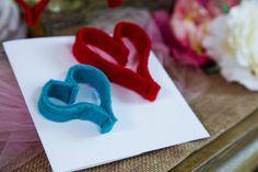 valentine hearts created with felt jeorgia and i learned how to sew