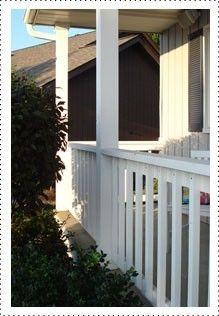 Just like new, porch railing & spindles #Krylon #DIY