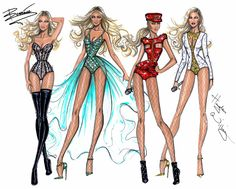 Hayden Williams Fashion Illustrations: Beyoncé Mrs. Carter Show World Tour 2014 collection by Hayden Williams