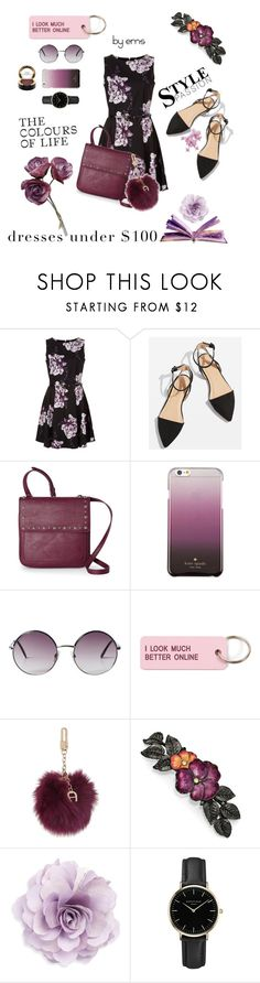 """Untitled #27"" by polyvoregirl893 ❤ liked on Polyvore featuring Topshop, Nine West, Kate Spade, Monki, Various Projects, Etienne Aigner, 1928, Cara, ROSEFIELD and MAC Cosmetics"