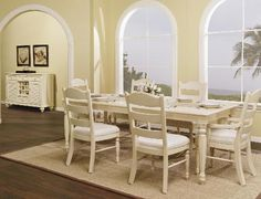 Wynwood Hadley Pointe Leg Table in Antique Parchment - Home, Wynwood Furniture, French Country Living Room, Dining Room Table, Furniture, Home Furniture, Dining Table Legs, Shabby Chic Furniture, Dining Room Sets
