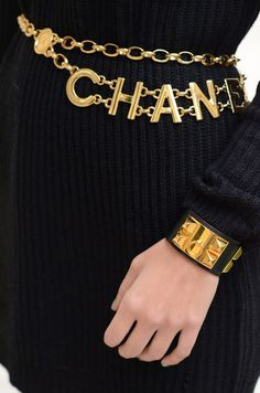 black and gold Hermes & Chanel Bracelet Chanel, Chanel Jewelry, Chanel Clothing, Jewellery, Designer Clothing, Gold Jewelry, Gabrielle Bonheur Chanel, Estilo Coco Chanel, Luxe Life
