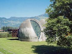 The Steinkirche (rock-church) |  Cazis, Graubünden, Switzerland | Swiss architect Werner Schmidt | Photo by Daniela Droz  Tonatiuh Ambrosetti