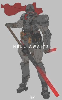 Hell Awaits, Lee Yeong gyun on ArtStation at https://www.artstation.com/artwork/dNr2J