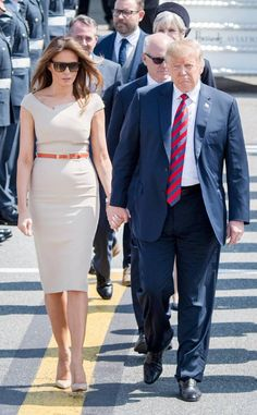 Photos from Melania Trump's Best Looks - E! Online Melania Trump Dress, First Lady Melania Trump, Christian Dior Dress, Malania Trump, Trump Is My President, Beautiful One, Coat Dress, Pencil Dress, Eos