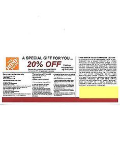 Coupons 1 20 Off Home Depot Compeors Coupon To Use At Lowe S Expires