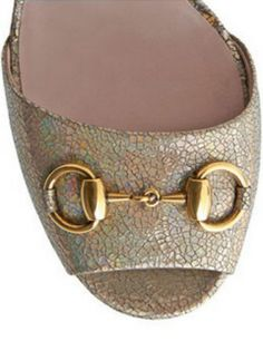 GUCCI Claudie Iridescent Platform Sandal