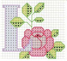 Rose alphabet L Cross Stitch Letters, Just Cross Stitch, Cross Stitch Art, Cross Stitch Flowers, Cross Stitch Designs, Cross Stitching, Embroidery Alphabet, Embroidery Art, Cross Stitch Embroidery