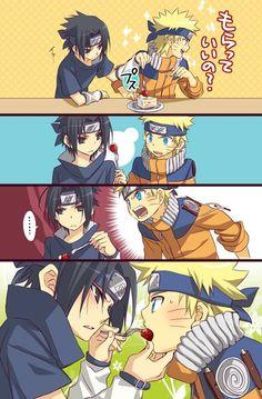 Naruto and Sasuke XD