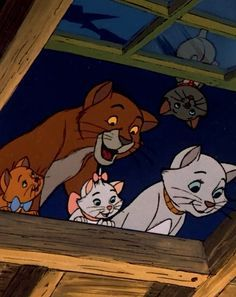 *THOMAS O'MALLEY, DUCHESS, TOULOUSE & MARIE ~ The Aristocats, 1970