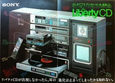 Sony Liberty CD: A very early CD player from 1983 (along with a record player, radio and few other things)