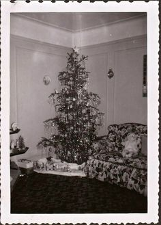 .Vintage Christmas....I have many old photos with the scalloped edges and bound together.