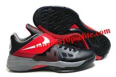 huge discount 8285f 3fedb Kevin Durant Shoes - Nike Zoom KD 4(IV) BlackGrayRed