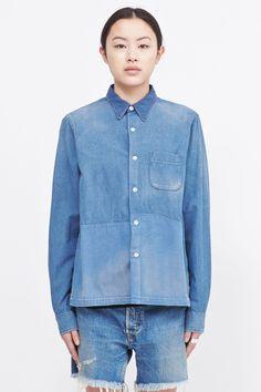 Chimala Mix Denim Shirt (Blue)