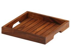 SouvNear 10 Inch Handmade Wooden Square Brown Service Tray with Handles for Your Kitchen, Dining Room, Bar, Tea, Coffee Lounge and Other Food Service Needs Dining Room Bar, Kitchen Dining, Kitchen Decor, Serving Trays With Handles, Wooden Serving Trays, Handmade Wooden, Handmade Crafts, Coffee Table Tray, Wood Creations