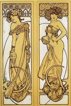 Alphonse (Alfons) Mucha - Illustration - Art Nouveau
