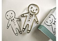 gingerbread man stamp!
