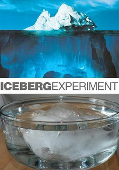 Titanic -- Iceberg Experiment (glacier and iceberg flooding experiment under it too! Science Activities For Kids, Easy Science, Preschool Science, Science Fair, Science Lessons, Teaching Science, Winter Activities, Science Projects, Science And Nature