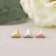 Hey, I found this really awesome Etsy listing at https://www.etsy.com/listing/105320970/gold-silver-pink-gold-little-pyramid