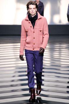 <3 pink sweater. Roberto Cavalli Fall 2012 Menswear