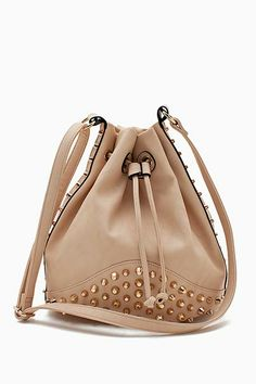 Studded Mini Bucket Crossbody