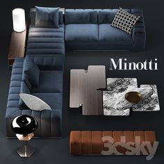 Sofa minotti freeman seating system