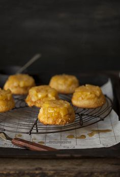 Pineapple upside down cakes on DrizzleandDip.com | photography Sam Linsell