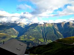 View from the Fiescheralp (above Fiesch near Brig) in Switzerland