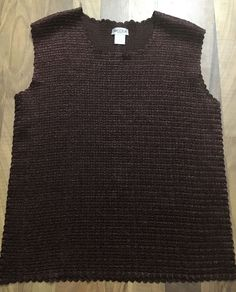 7f982f5a8ce97 Womens Plus Size 2X Nicola Stretch Polyester Textured Brown Layering Tank  Top  Nicola  KnitTop