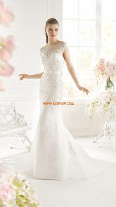 Výstřih do U Nášivky Zip Svatební šaty 2015