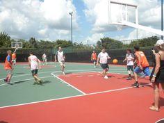 Jerry playing basketball