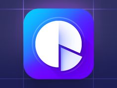 Chart Pie Flat IOS Icon designed by Igor Radivojevic. Connect with them on Dribbble; Typography Logo, Typography Design, Logo Design, Pie Chart App, Im App, Kids Notes, App Icon Design, App Logo, Ios Icon