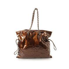 0310d0aae691 Genuine CHANEL Patent Bonbon Shoulder Bag-Bronze Free Express Shipping Gift  List, Shoulder Bag