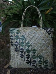 Maori Patterns, Straw Bag, Burlap, Reusable Tote Bags, Hessian Fabric, Jute, Canvas