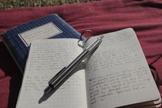 Commonplace books are incredibly soothing to keep and offer a quieter, more creative space for writing and exploration than journals because they are not limited to personal experiences. Writers Notebook, Journal Notebook, Notebook Ideas, Journal Prompts, In Writing, Creative Writing, Moleskine, Commonplace Book, Scrapbook Journal