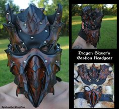 Dragon Slayer's Headgear by Epic-Leather.deviantart.com