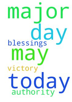 God of major 1, today as the prayer let it be may day - God of major 1, today as the prayer let it be may day of blessings and authority also victory Posted at: https://prayerrequest.com/t/yAK #pray #prayer #request #prayerrequest