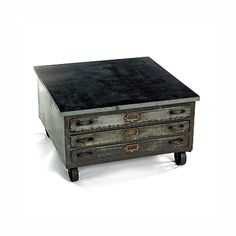 Vintage Cabinet Coffee Table at HudsonGoods.com