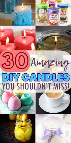Diy Candles Easy, Diy Candles Scented, Gel Candles, Making Candles, Homemade Candles, Homemade Crafts, Diy Arts And Crafts, Crafts For Kids, Dyi