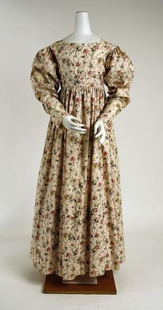 1820s morning dress via The Costume Institute of the Metropolitan Museum of Art
