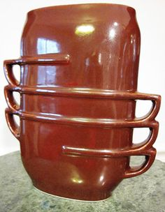 Red Wing Art Deco Pottery Vase Stacked sold by ChasingTimeVintage, $85.00    No. 1339