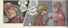 Wally West and Jesse Quick
